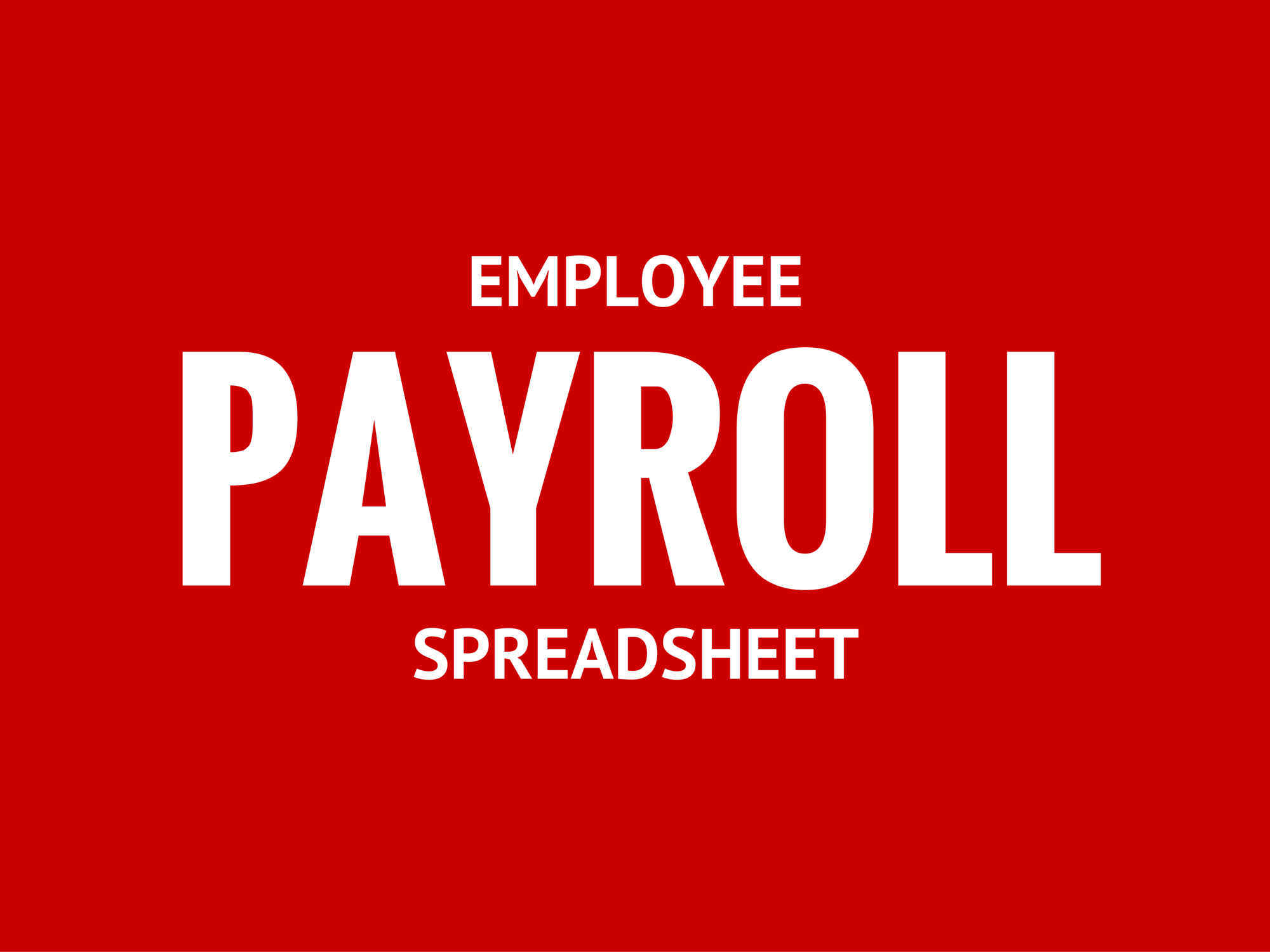 one employee payroll