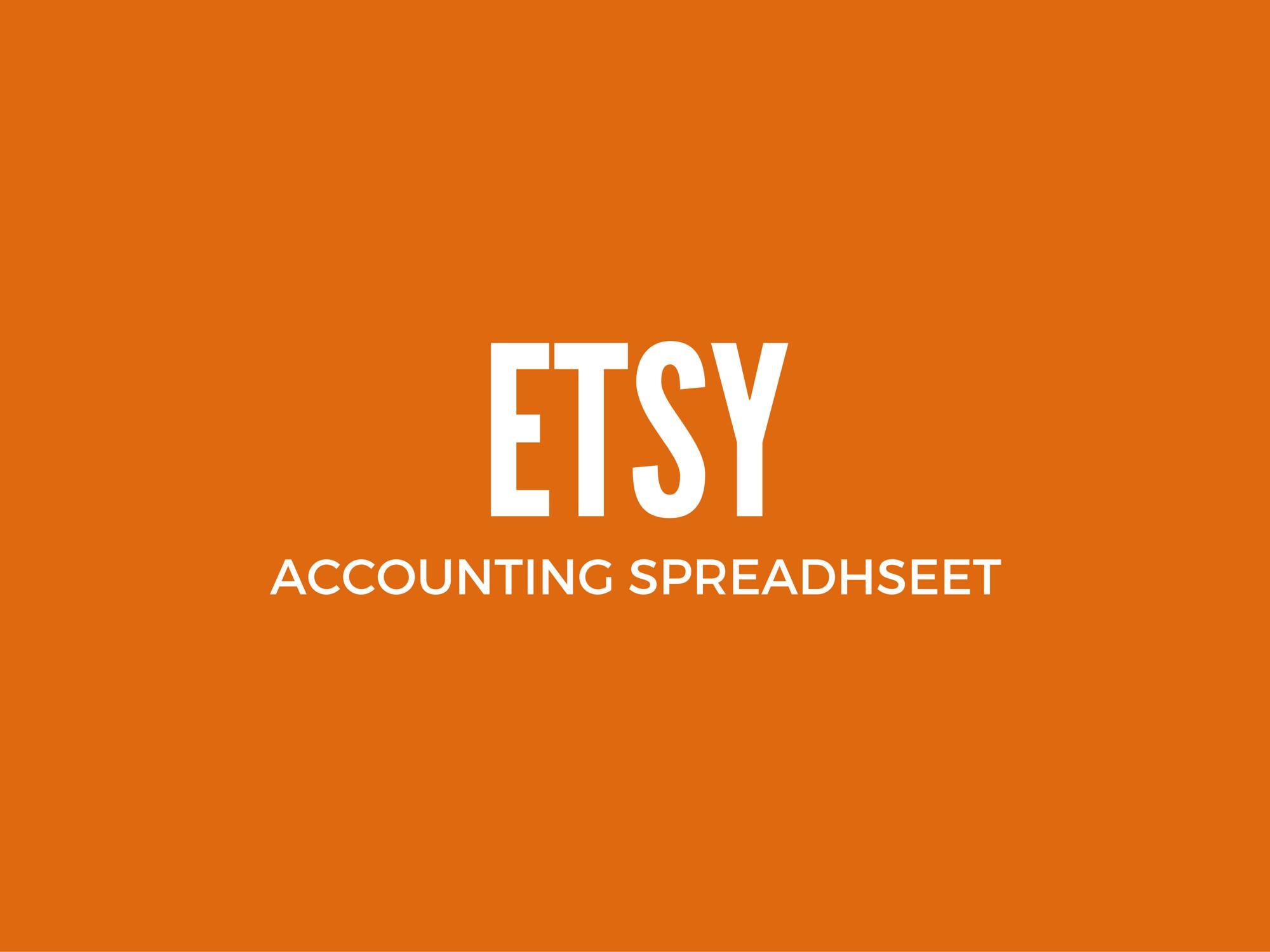 Etsy Accounting Spreadsheet