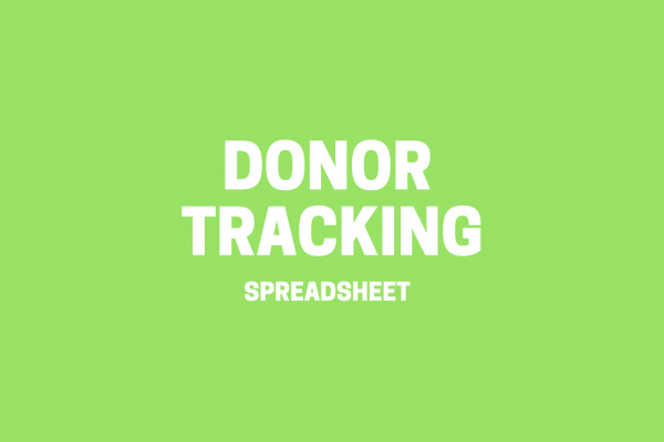 Donor Tracking Spreadsheet